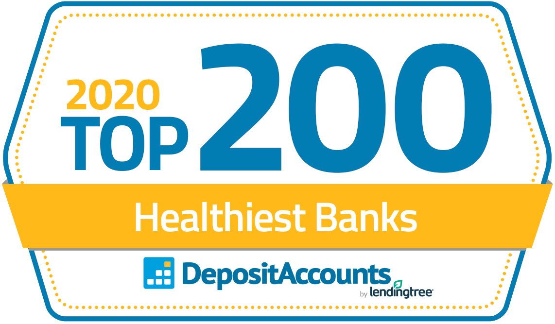 nbkc bank is named one of the Top 200 Banks in the US and given an A+ rating by  DepositAccounts.com.